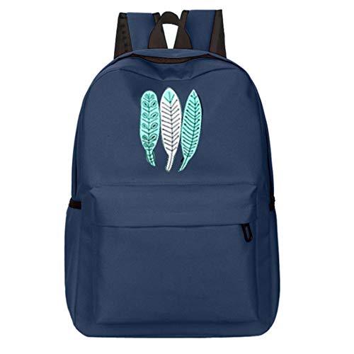 Cloom zaino, ragazze ragazzi oxford zaino stampa floreale con le foglie di nuovo a scuola casuale viaggio impermeabile borse per scuola traspirante scuola zainetti zaini(blu,1pc)
