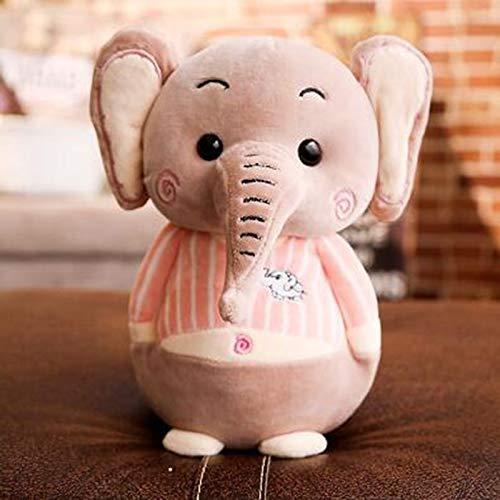 CGDZ Kawaii 25cm Nettes Baby Beschwichtigen Elefanten Plüsch Schöne Tier Elefanten Schlafkissen Gefüllte Plüschtiere für Kinder B 25cm (Gefüllte Weiße Elefant)