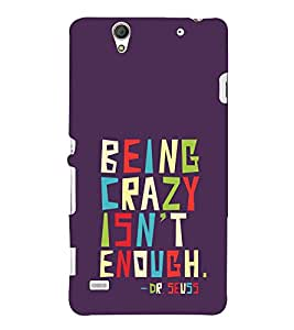 ifasho Designer Phone Back Case Cover Sony Xperia C4 Dual :: Sony Xperia C4 Dual E5333 E5343 E5363 ( Royal White And Black Pattern )