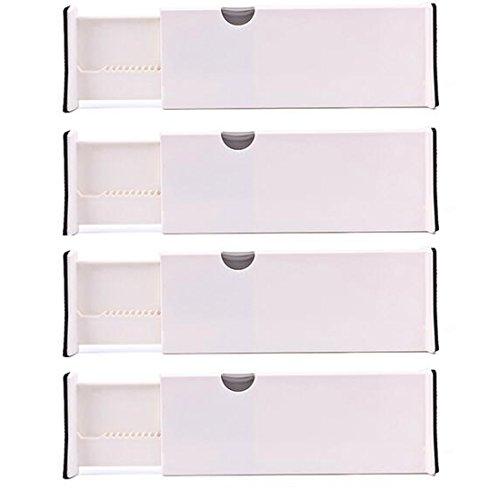 Glield Verstellbare Schubladenorganizer Schublade Teiler Speicherorganisator (43.5cm Länge nach Erweiterte) CTB01 (Set of 4)