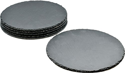 Runde Schieferplatten - Platzteller - 6 Stück