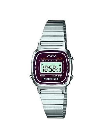 Casio Damen-Armbanduhr XS Casio Collection Digital Quarz Edelstahl LA670WEA-4EF