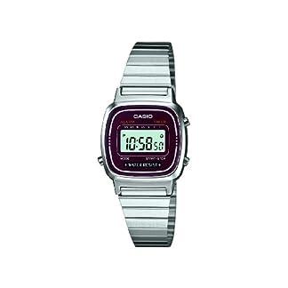 Casio LA670WEA-4EF – Reloj Digital de Cuarzo para Mujer con Correa de Acero Inoxidable, Color Plateado