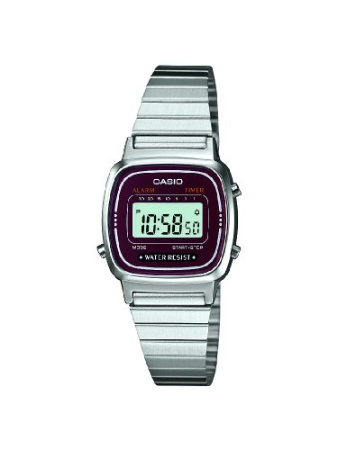 CASIO Collection Orologio da Polso, Quadrante Digitale, Unisex, Resina, Colore Argento