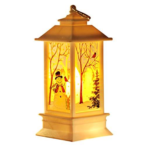 feeilty Sacchetti di Candela Lanterne Decorative Bianche, Piccola Lanterna di Natale Lampada da Tavolo Lampada da Tavolo Festival Decorazione per la casa Bar