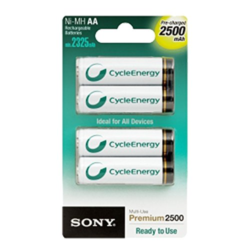 Sony AA (LR6) Akkus, wiederaufladbar, 2.500mAh, 4Stück