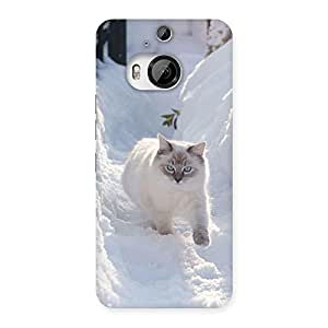 Snow Cat Back Case Cover for HTC One M9 Plus