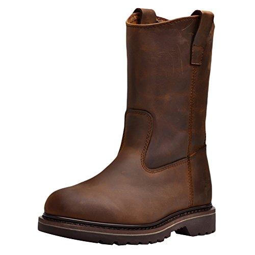 Insun Unisex Erwachsene Stiefel Winter Boots Winterstiefel Schuhe für Herren Damen Braun 42