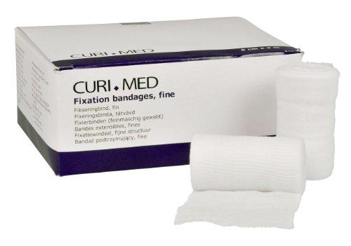 Curi-Med - Mullfixierbinde - 6 cm x 4 m - elastisch - unsteril - weiß - 20 Stück