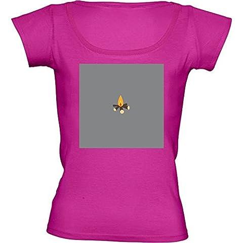 Camiseta Cuello Redondo para Mujer - Hoguera by ilovecotton