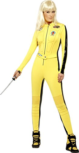 Kill Bill Jumpsuit Damenkostüm Lizenzware gelb-schwarz (Kind Bill Kostüme 100)