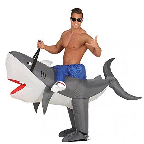 Aufblasbares Kostüm Hai Airsuit Huckepack Kostüm Haifisch AirSuits Fasching