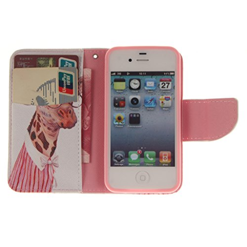 Nutbro [iPhone 4S] iPhone 4S Leather, iPhone 4S Leather Wallet Case, iPhone 4 Case,iPhone 4 Cases,Flip Wallet Leather Case Cover for iPhone 4S ZZ-iPhone-4S-41