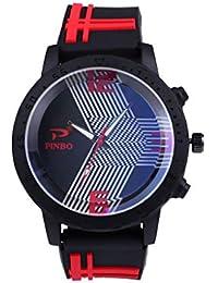 e8c59f193496 POJIETT Relojes Hombre Deportivos Reloj Pulsera de Cuarzo Mujer Niño Niña  en Correa de Silicona Reloj de Colores Sport Wrist Watch for…