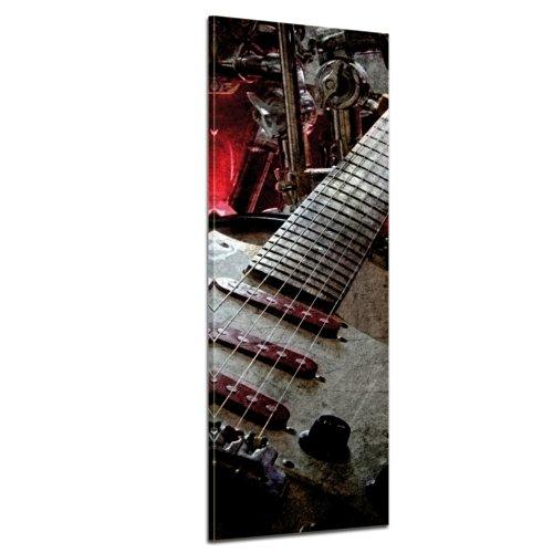 Kunstdruck - Musik - Bild auf Leinwand - 30x90 cm - Leinwandbilder - Urban & Graphic - Grunge - Musikinstrument - Gitarre