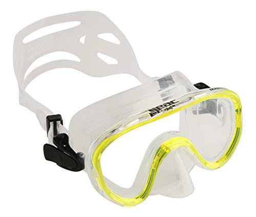 Seac - 0750007005360A - Masque de plongée - Mixte Enfant - Jaune (blanc/noir) - 3-8 ans (S)