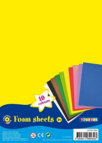 Playbox Láminas de Espuma (10 Colores) 30 x 20 cm - 10 Unidades - (PBX2470247)