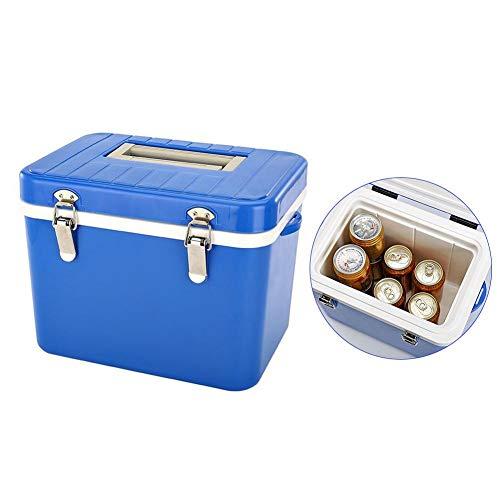 talogca Auto Kühlschrank Inkubator Dual Use Eimer mit Griff, 8L High Density EPS Eiskübel Isolierbox für Outdoor Camping, Blau
