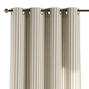 Vorhang mit Ösen - Gestreift Beige Ecru- auf Maß