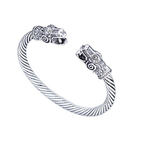 Antique Silver Dragon Viking Bracelets&Bangle Carter Love Bracelet Pagan Jewellery Accessories