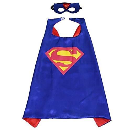 House cloud costumi da supereroi per bambini - regali di compleanno - costumi di carnevale - 1 mantello - logo di superman – giocattoli per bambini e bambine