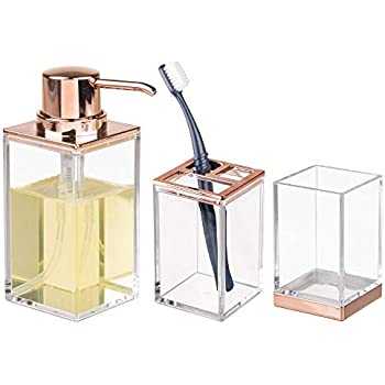 Glacia Basics Lot de 4 accessoires de salle de bain