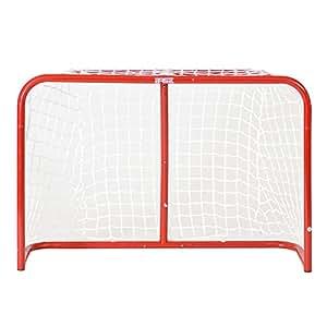 Base Cage de hockey de rue pliable avec filet polyester, Sport & Loisirs d'extérieur, Streethockey Tor Street Goal 32 Zoll Inkl. 2 Ministicks And Softball, Rot, Breite: 81,2cm / Tiefe:30,5cm  / Höhe: 53,3cm