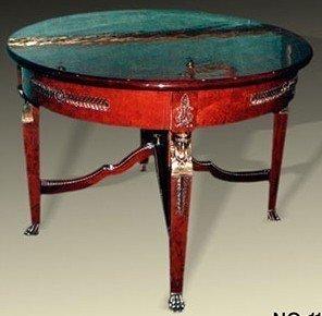 Table baroque style antique rococo rond Louis XV MoTa0110