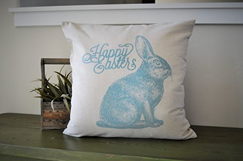 Claude6yhAly Schiffe in 2 Tagen Ostern Kissenbezug Fr¨¹Hling Kissen Happy Easter Rabbit Kissenbezug Bunny Kissenbezug 18 x 18 (Schiff In 2 Tagen)
