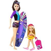 Barbie - Surfing Fun, Set di 2 bambole: Skipper e Chelsea