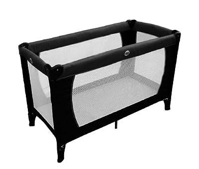 Babyway BTC - Cuna de viaje con colchón fino (78 x 119 x 60 cm, peso: 8,4 kg, hasta los 3 años, resistencia máx. 25 kg), color negro from Babyway