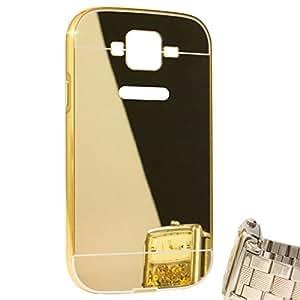 DMG Ultra Luxury Air Aluminum Metal Bumper Detachable + Mirror Hard Back Case for Samsung Galaxy Grand / Grand Neo (Gold)