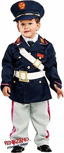 Fancy Me Italienischer 6 Stück Deluxe Baby Kleinkind Jungen Polizei Policeman Stelle Beruf Verkleidung Kostüm Kleidung 0-36 Monate - Blau/weiß, 2 Years (Kleinkind Polizei Kostüm)