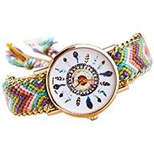 Reloj de pulsera - SODIAL(R)Reloj de pulsera de cadena trenzada de oro 6b9411e09f9a