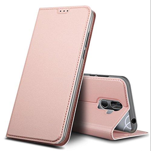 BQ Aquaris VS Plus Hülle, GeeMai Premium Flip Case Tasche Cover Hüllen mit Magnetverschluss [Standfunktion] Schutzhülle Handyhülle für BQ Aquaris VS Plus Smartphone, Rosegold