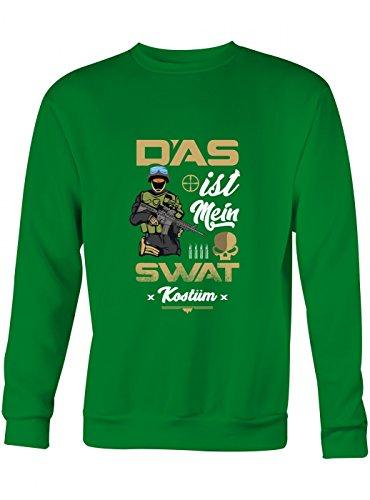 idung S.W.A.T. Premium Sweatshirt | Kostüm | Karneval | Fasching | Unisex | Sweatshirts, Farbe:Hellgrün;Größe:M (Grünen Kostüm Ideen Für Tag Des Sports)