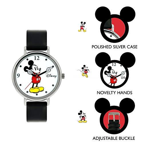 41oiVjBaTPL - Disney Reloj Análogo clásico para Unisex de Cuarzo con Correa en Cuero MK1315