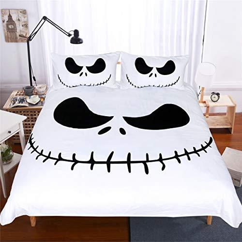 (Einfache und kreative Halloween Nacht Steppdecke dreiteilige Bettwäsche.)