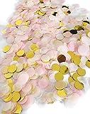 Cavore Konfetti Gold Mehrfarbig, 1cm rund, 10g, 1000 Stück – Elegante und Moderne Partydeko – Geburtstag, Hochzeit, Baby-Show