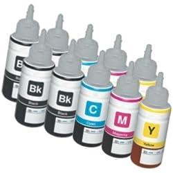 Printing Saver T6641 T6642 T6643 T6644 NOIR (4) CYAN (2) MAGENTA (2) JAUNE (2) Bouteilles 70ml recharge d'encre pour Epson EcoTank ET-2500 ET-2550 ET-2600 ET-4500 ET-4550 ET-14000 L350L355L555L1300