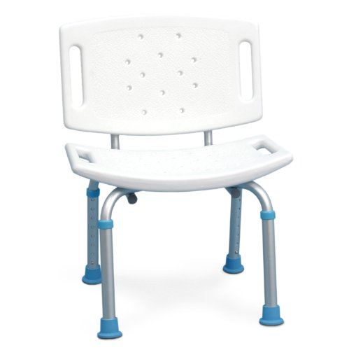 Airgo Asiento de ducha plegable, color blanco