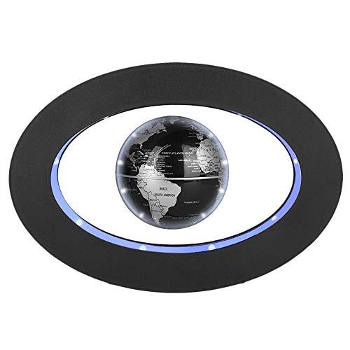Globo flotante magnetico con luces LED Globo Flotante de levitación magnética para decoraciòn en Oficina y casa para los niños regalo (Negro)