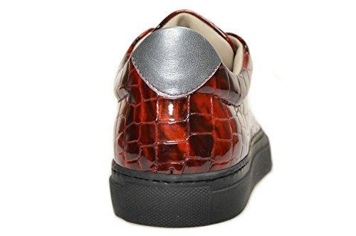BERDINI , Baskets pour femme Rouge - cocco bordeaux, acciaio, suola nera
