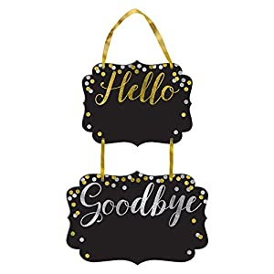 Amscan International-241898signsign MDF pizarra Hello adiós