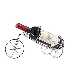 Estante para Vinos Retro Vintage Bicicleta Vintage Wine Swing Plating Home Bar Botella De Vino Rack Decoración Regalo (Color : Plata)