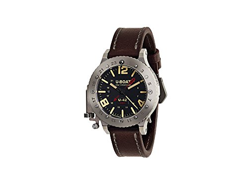 U-Boat U-42 Automatic Watch, Titanium, 50mm, 3 atm, GMT, Limited Edition, 8095