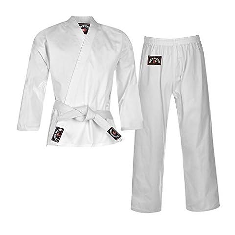 Prime Sport Junior Karaté Kid GI Uniforme pour Costume Vêtements en coton couleur blanc, blanc