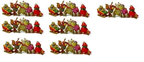 Scott 's zum Sammeln Christmas Ornament Skaten Friends 5Figuren tie-ons Geschenk Box Set, Polyresin, rot, Größe S