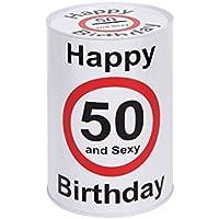 Preisvergleich für Spardose | Sparbüchse | Geburtstagsgeschenk Geschenkidee | Maße 15 x 10 cm aus Metall | Für folgende Geburtstage: 18, 30, 40 & 50 von ALSINO