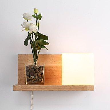 Wandleuchten Holz/AC 110-130 AC 220-240V/Max. 60 W/Landhausstil Glühlampe/mit/ohne Schalter, 110-120 V